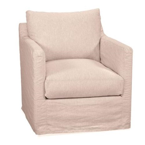 Four Seasons Furniture Accent Chairs Transitional Miles Swivel Glider Chair with Track Arms