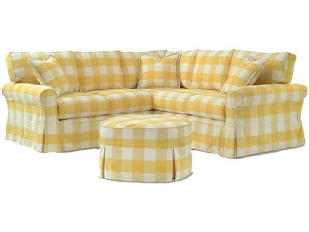 Four Seasons Furniture Alexandria Casual Sectional With Skirt