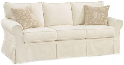 Four Seasons Furniture Alexandria Casual Queen Sleeper Sofa with Rolled Arms