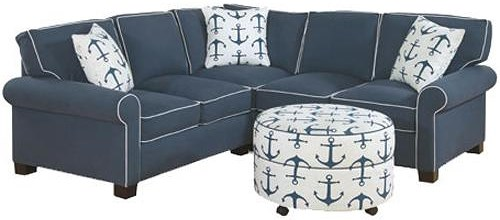 Four Seasons Furniture Alexandria Casual Fully Upholstered Sectional with Block Feet
