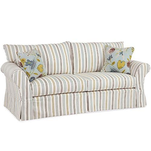Four Seasons Furniture Alyssa Casual Sofa with Rolled Arms