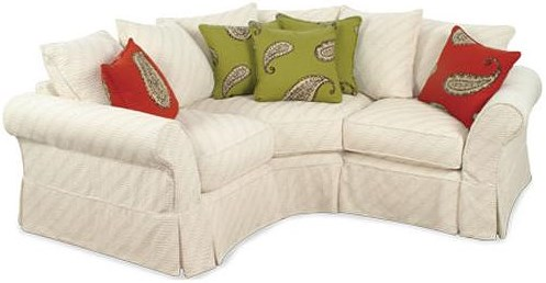 Four Seasons Furniture Alyssa Casual Sectional with Rolled Arms