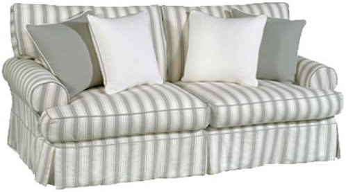 Four Seasons Furniture Bertha Casual Sofa with Rolled Arms