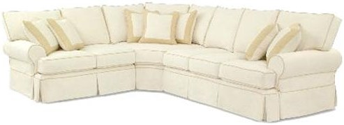 Four Seasons Furniture Bertha Casual Sectional with Rolled Arms