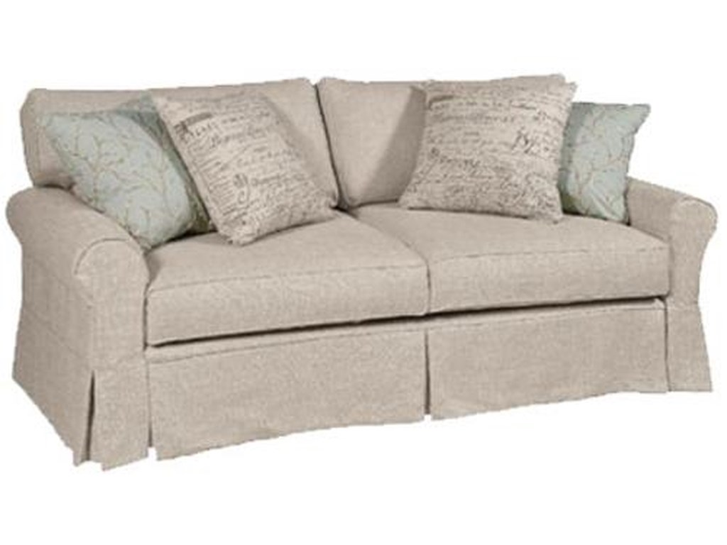 Four Seasons Furniture Daniel Casual Sofa Sleeper With Rolled Arms
