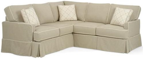 Four Seasons Furniture Morgan Transitional Sectional with Track Arms