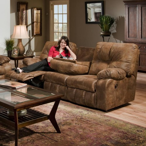 86 Inch Reclining Sofa With Pillow Arms 565 By Franklin