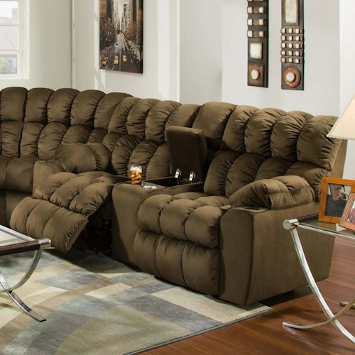 Franklin Brayden Casual Styled Reclining Console Loveseat