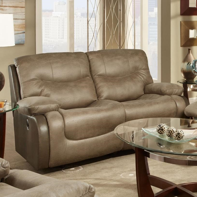 Franklin Holbrook Reclining Loveseat With Scoop Seats Design Ideas