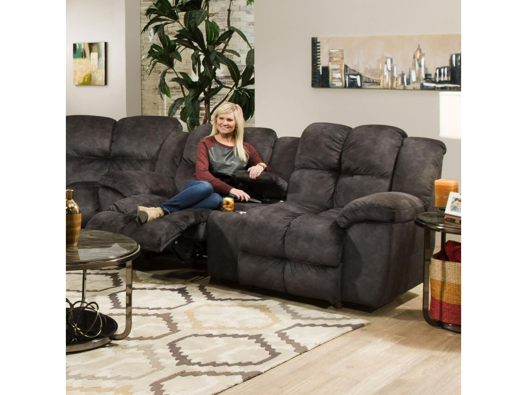 Franklin 461Reclining Console Loveseat
