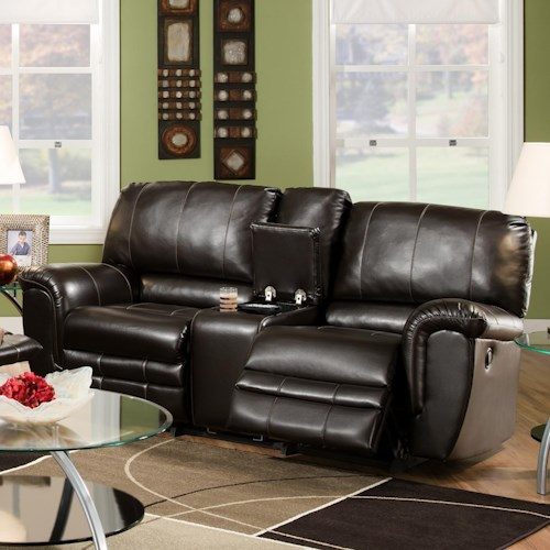 Franklin 463 Casual Rocking Reclining Loveseat with Console