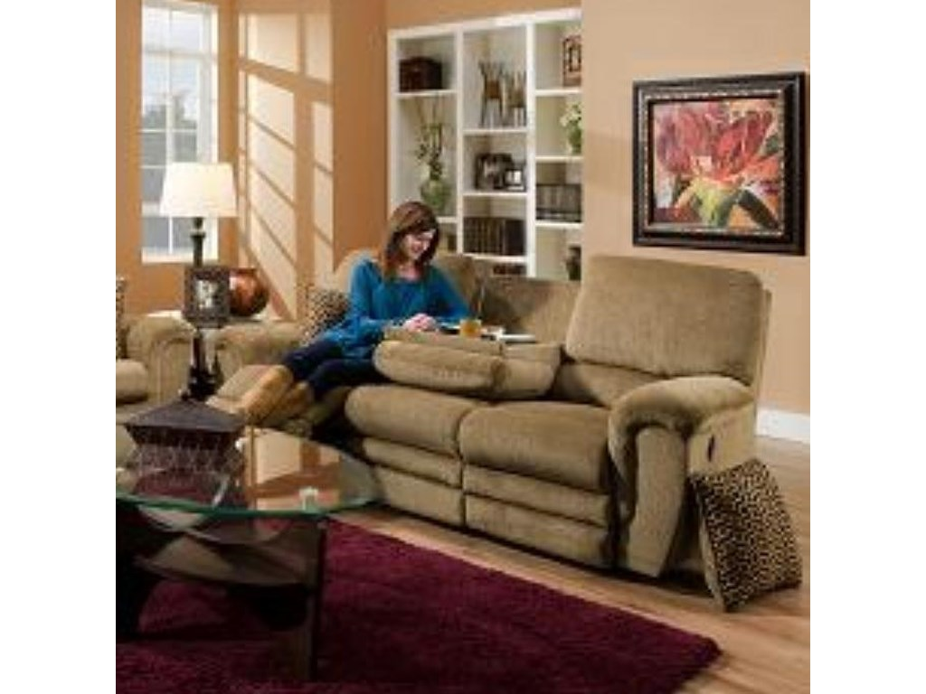 Franklin 463Double Reclining Sofa with Table