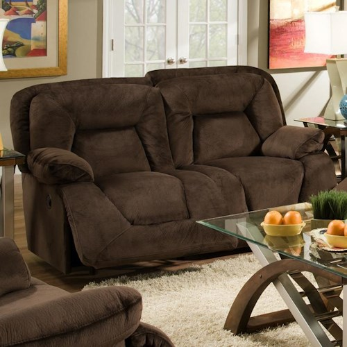 Franklin 473  Reclining Loveseat in Casual Furniture Style