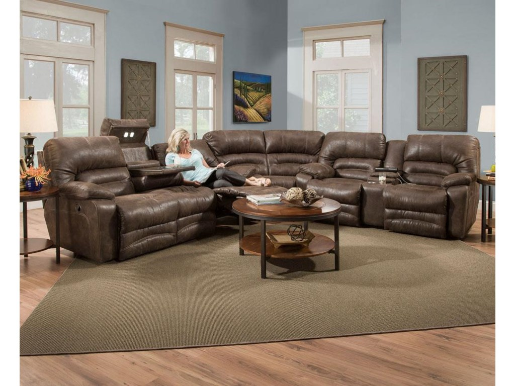 Shown in Sectional Sofa Configuration