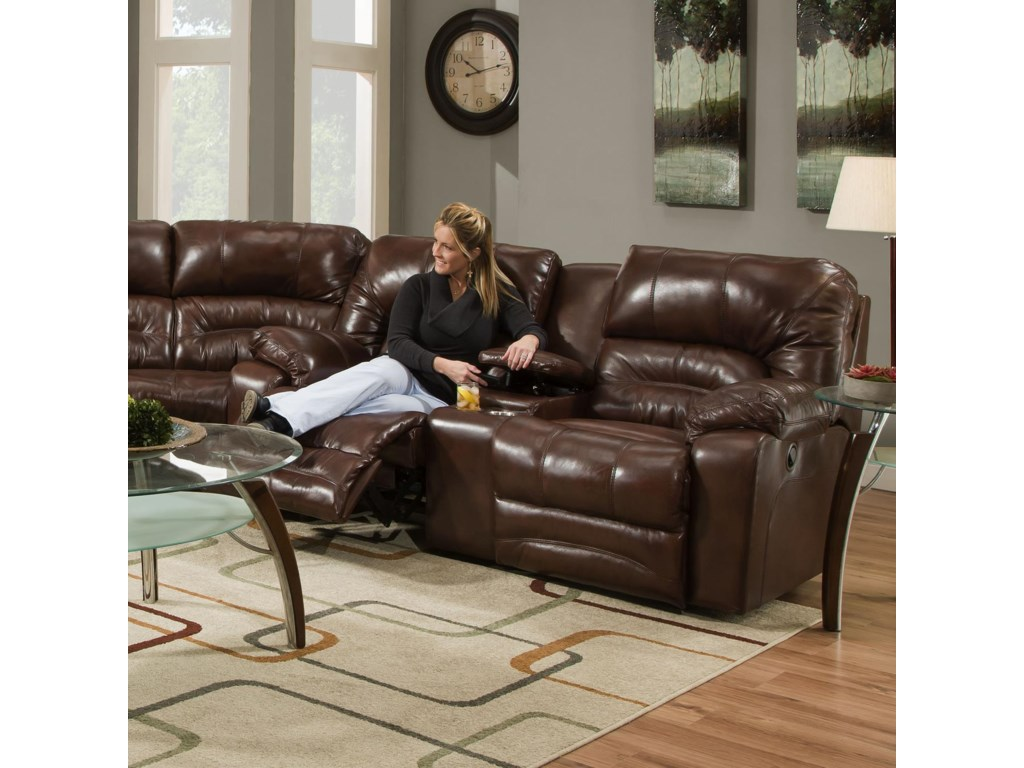 Franklin LegacyPower Reclining Console Loveseat