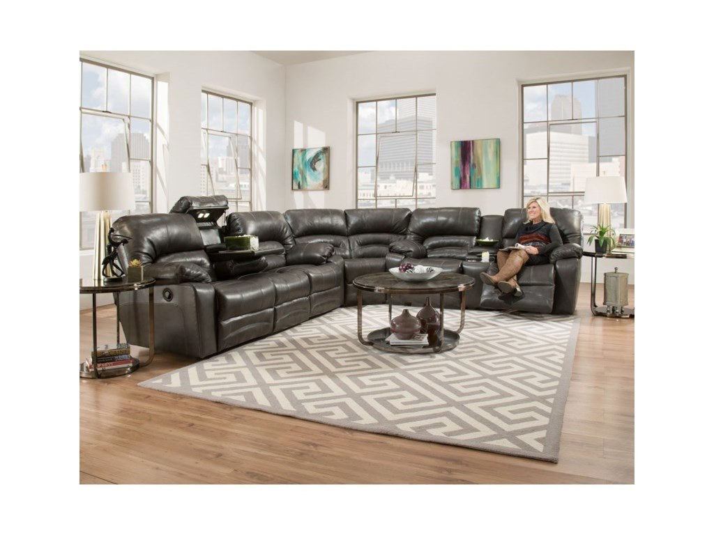 Franklin LegacyPower Reclining Sectional Sofa