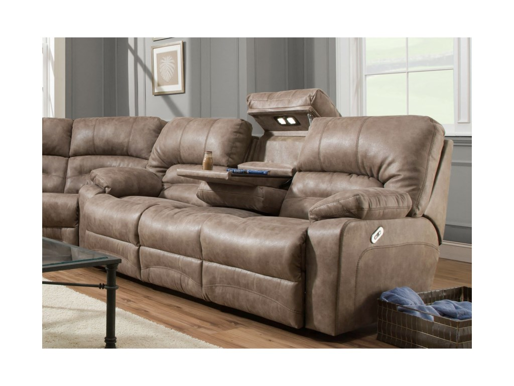 Franklin LegacyPower Reclining Sofa with Table and Lights