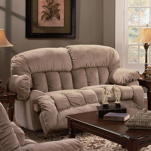 Franklin 524 Casual Rocker Recliner Loveseat with Lift-Up Footrests