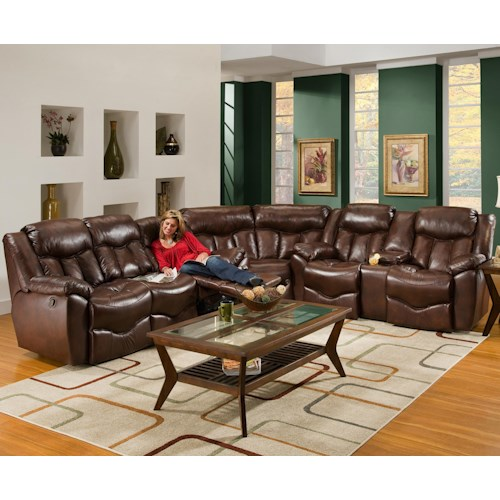 Franklin 564 3 Piece Reclining Sectional Sofa
