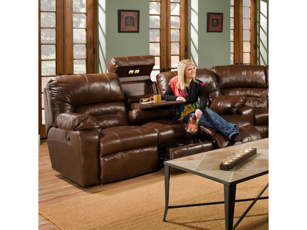 Franklin 596Sofa with Lights, Drawer and Storage