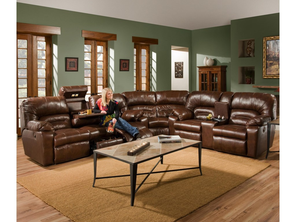 Franklin 5963 Piece Reclining Sectional