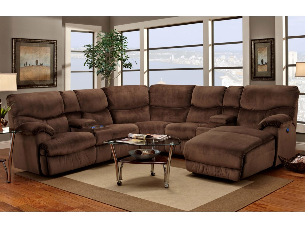 Franklin 597reclining Sectional Sofa With Chaise