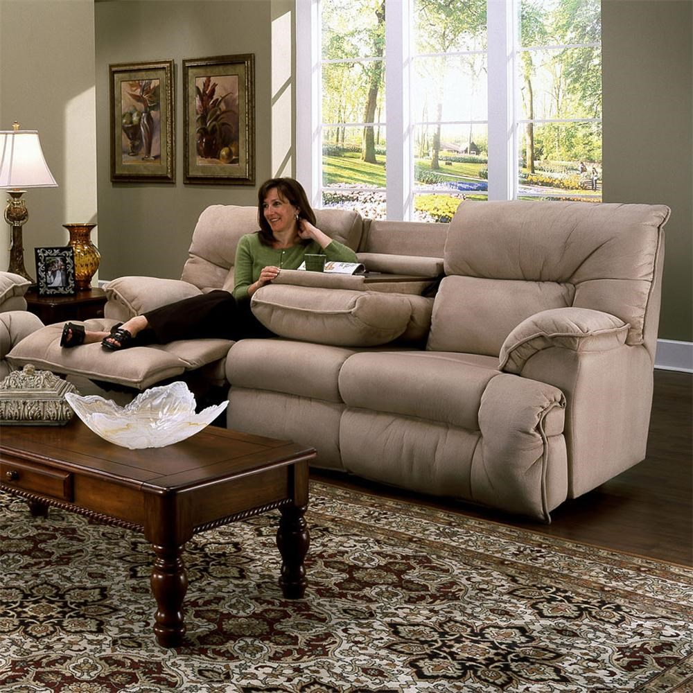 casual reclining sofa with fold down tray table 6460 by franklin rh wilcoxfurniture com franklin richmond reclining sofa franklin richmond reclining sofa