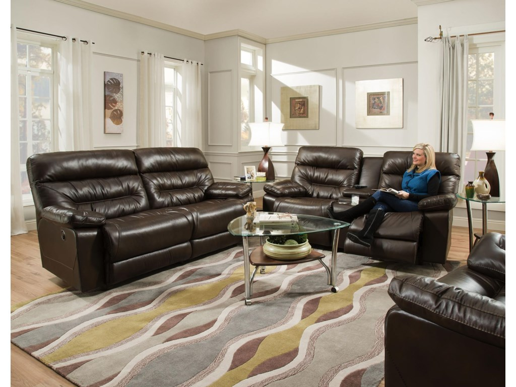 Franklin DominoReclining Console Loveseat