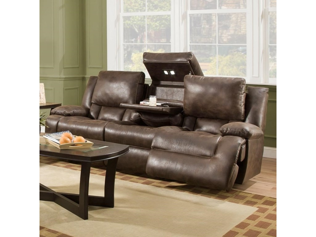 Franklin ExcaliburPower Reclining Sofa with Tech Gadgets