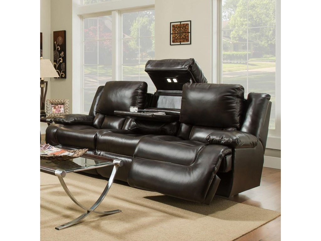 Franklin Excalibur Reclining Sofa With Tech Gadgets