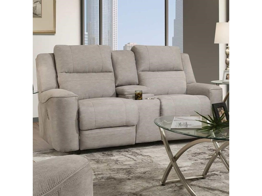 Franklin 762Dual Power Reclining Console Loveseat