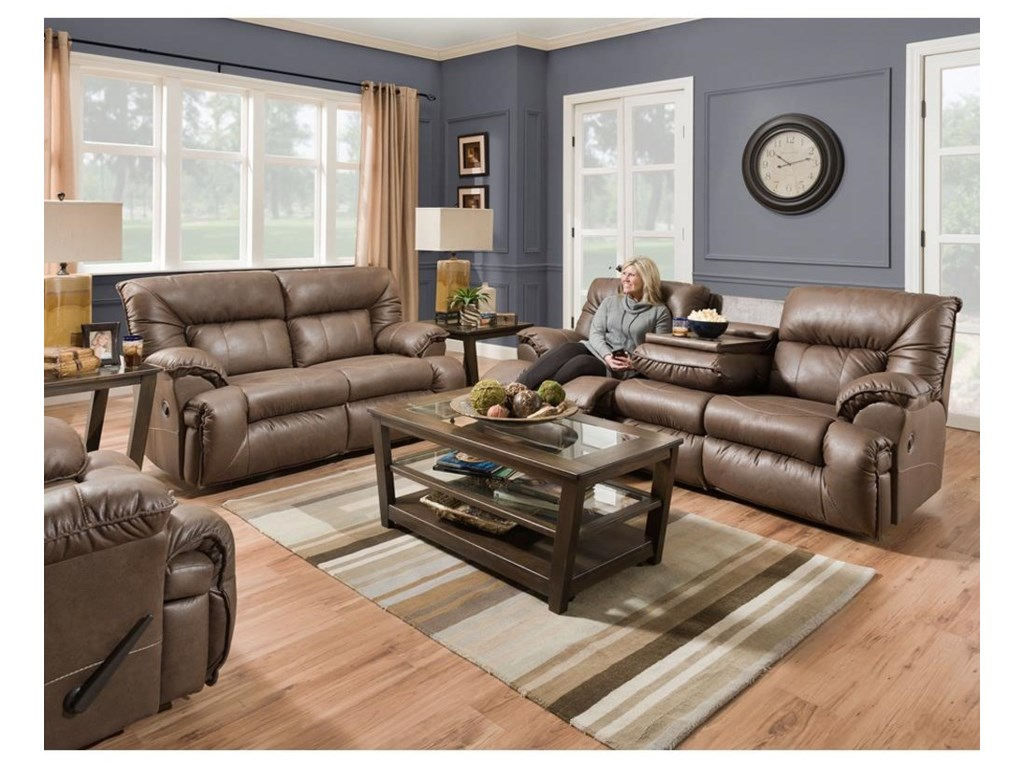 Franklin HectorReclining Sofa With Drop Down Table