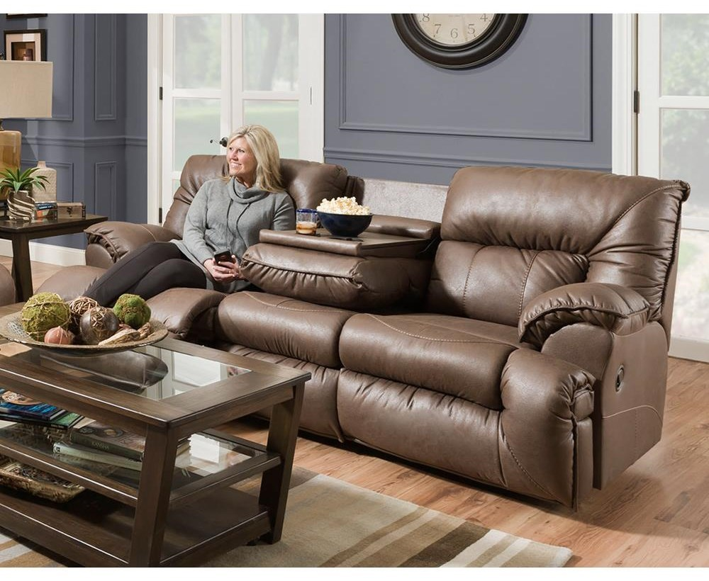 Franklin HectorReclining Sofa With Drop Down Table ...