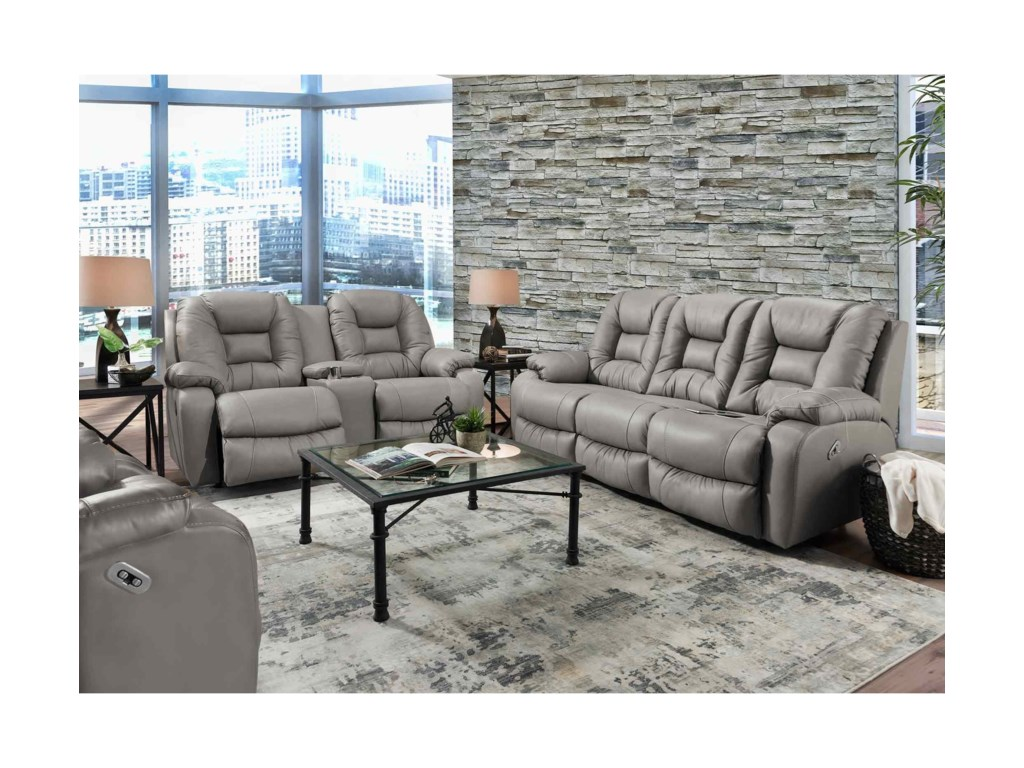Franklin 794Power Reclining Loveseat with Console