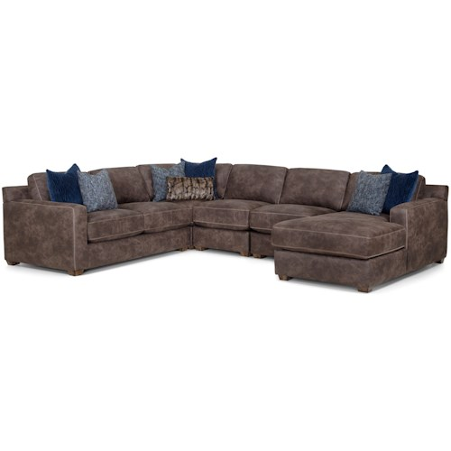 Franklin Jameson Contemporary Five Piece Sectional With Chaise