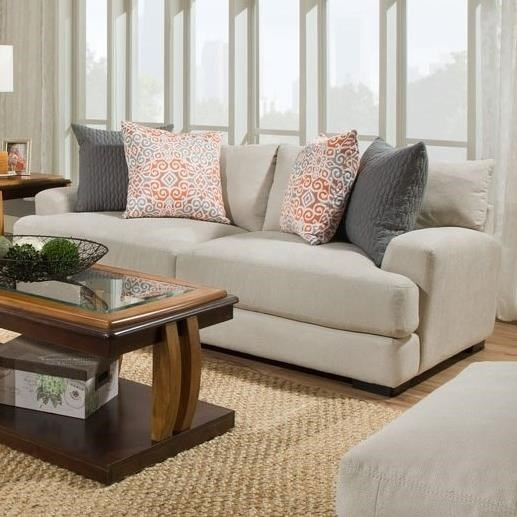 Franklin Barton Sofa With Two Seat Cushion Construction