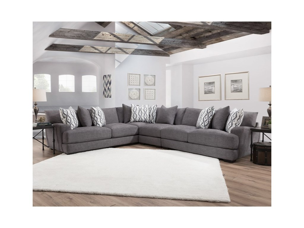 Franklin Journey Sectional Sofa with 5 Seats | John V Schultz ...
