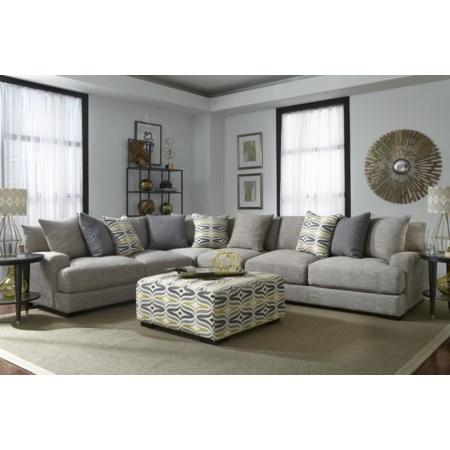 Sectional Sofa with 5 Seats