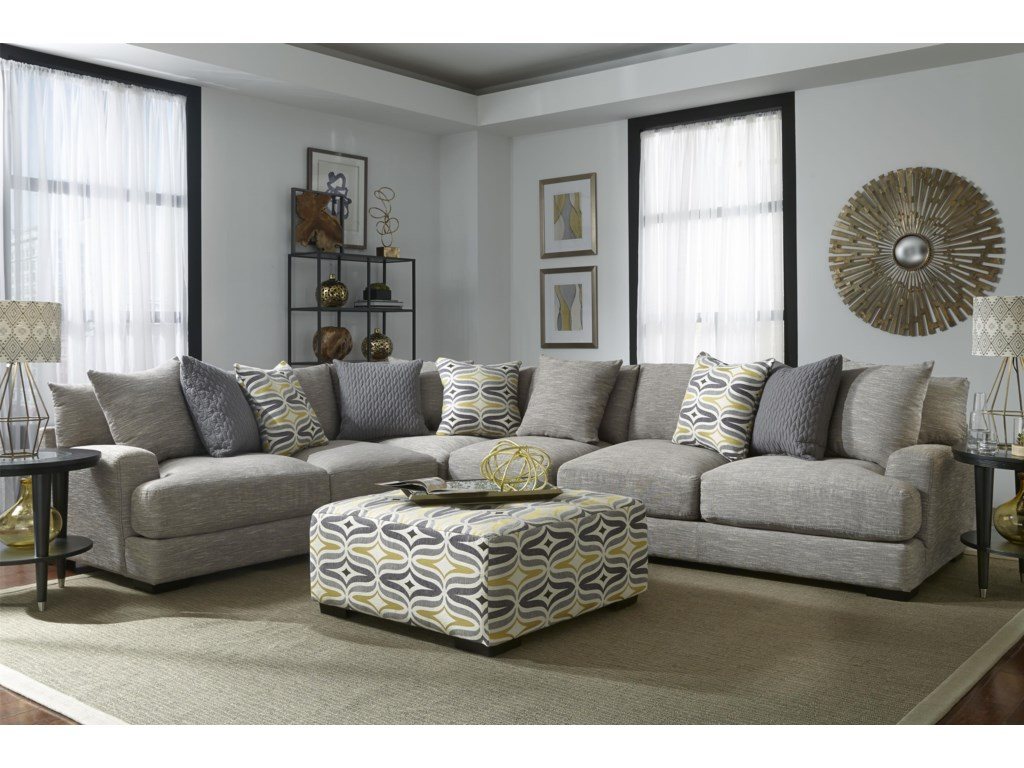 Franklin Barton Sectional Sofa with 5 Seats | Furniture and ...