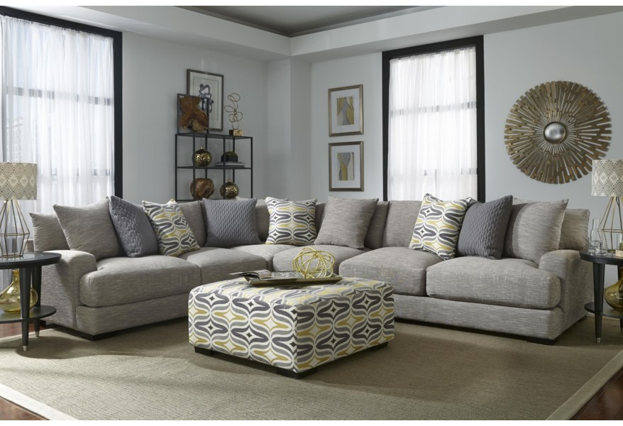 Barton Sectional Sofa with 5 Seats by Franklin at Wilcox Furniture
