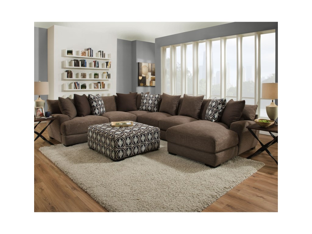 Franklin CadetSectional Sofa with 5 Seats and Chaise