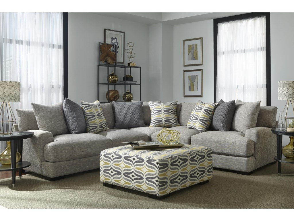 Franklin barton sectional sofa with 4 seats furniture and ottoman sold separately parisarafo Gallery