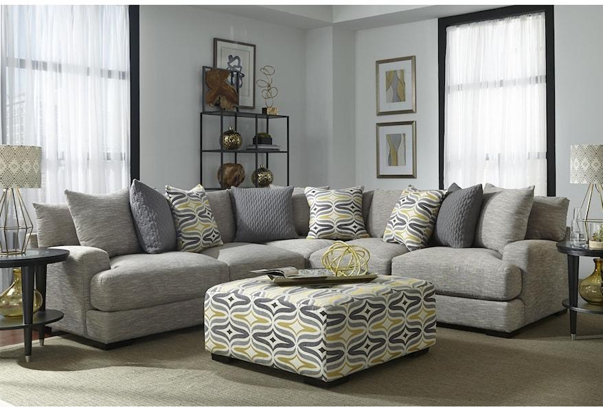 Barton Sectional Sofa with 4 Seats