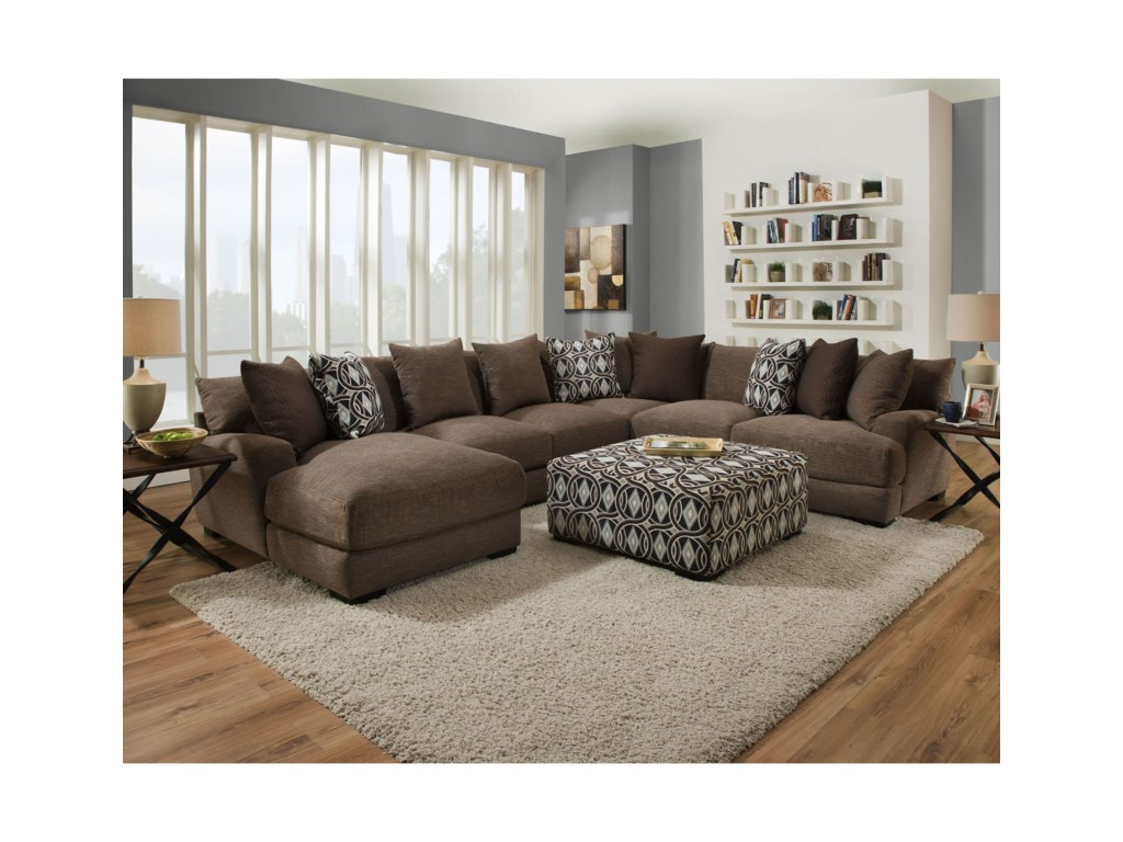 Franklin CadetFive Seat Sectional with Left Facing Chaise