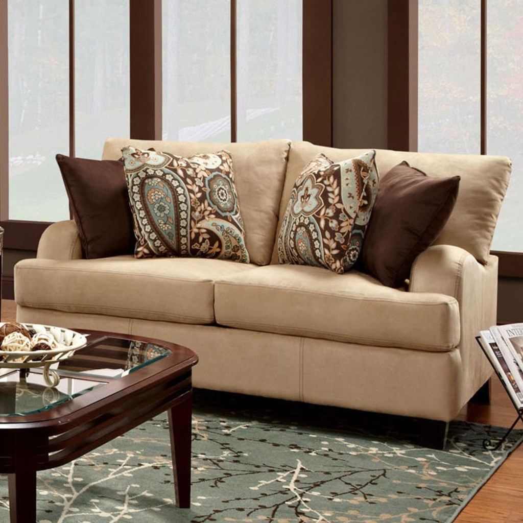 Franklin 809 Casual Loveseat Rooms For Less Love Seat