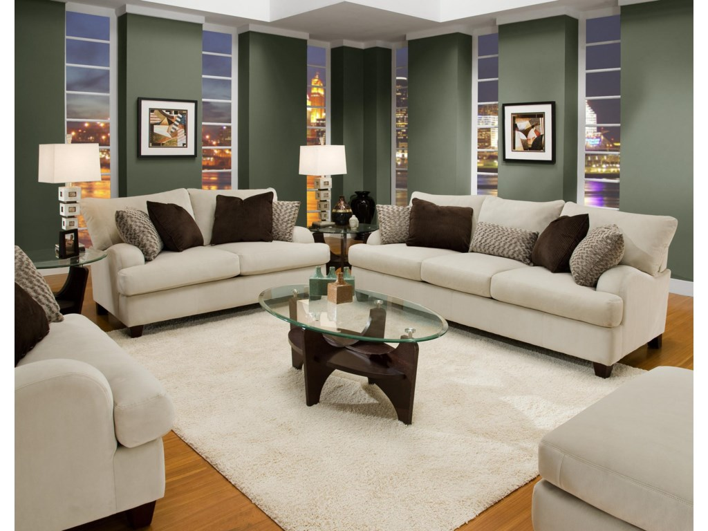 Shown in Room Setting with Matching Loveseat