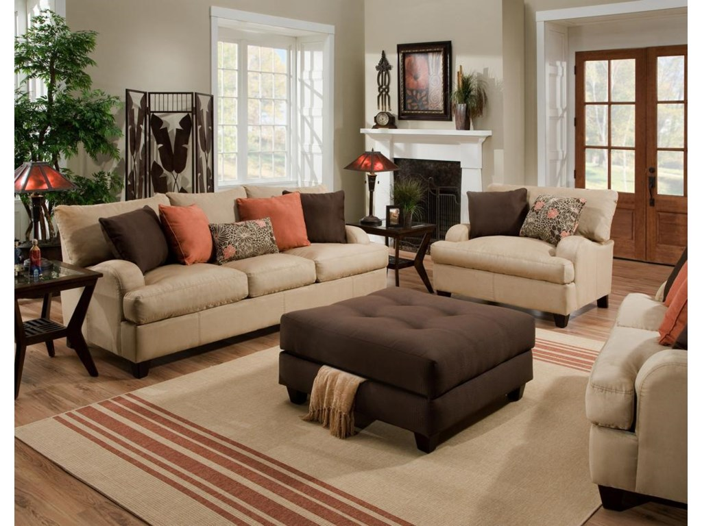 Shown in Room Setting with Matching Sofa