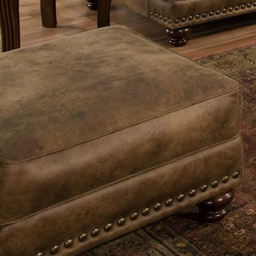 Franklin 817 Rustic Ottoman in Traditional Furniture Style