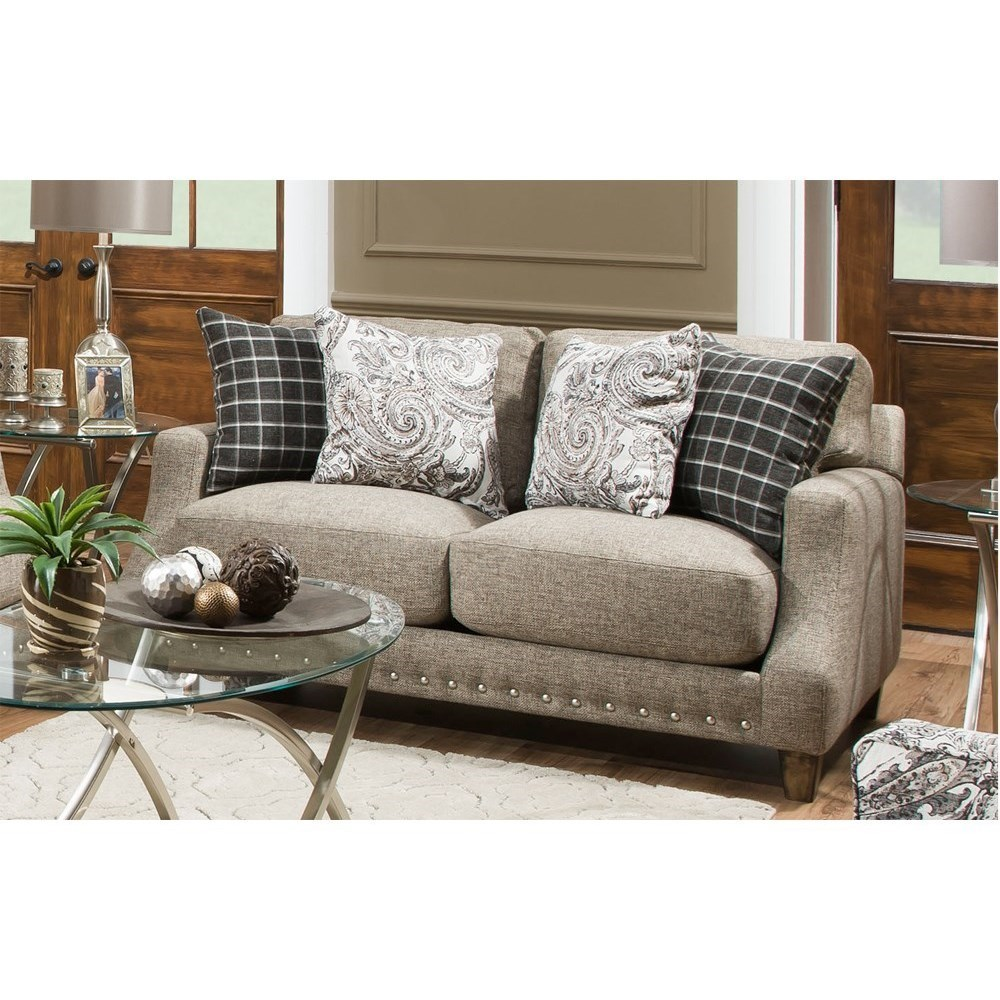 Franklin 863 Loveseat With Transitional Style Moores Home