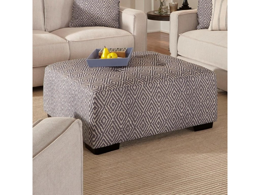 Franklin LandonSquare Ottoman with Button Tufting